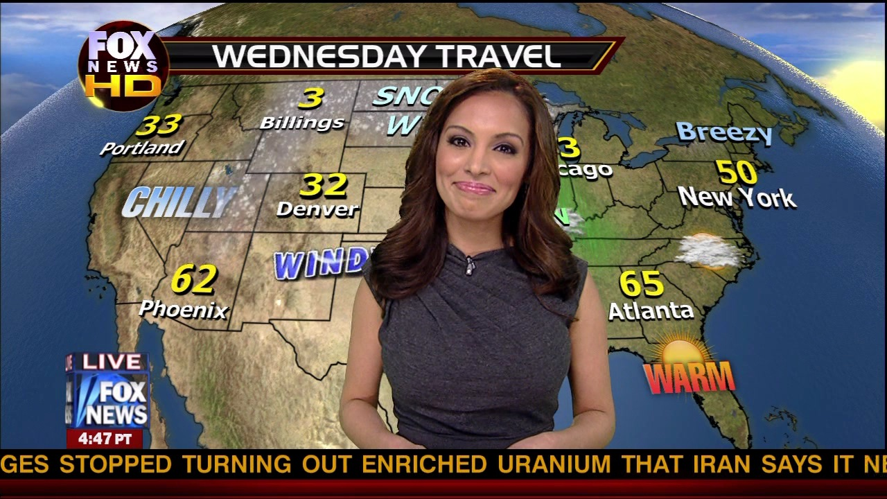 Fox News weatherbabe Maria Molina