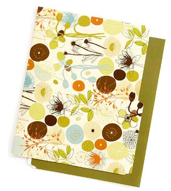 file folder with fanciful design - flowers and more