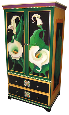calla lily armoire