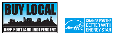 logos for Buy Local - Portland and for Energystar