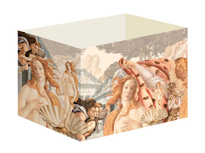 gift box pattern resembles Botticelli's Birth of Venus