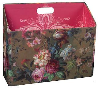 floral file folder holder