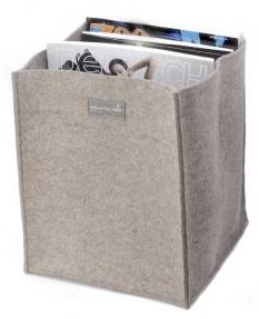 felt box holding magazines