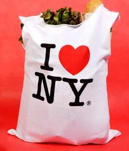 bag made from I Love New York t-shirt