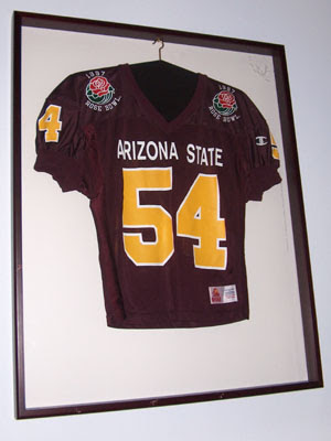 sports jersey, Arizona State, framed