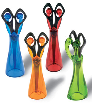 4 scissors holders, different colors