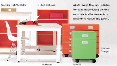 colorful office furniture - desk, bookcase, pedestal, etc. - from Design Within Reach