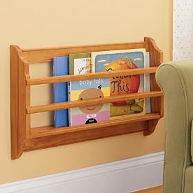 wall mounted book bin