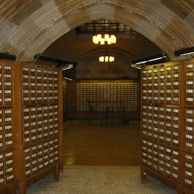 card catalog from Yale University library