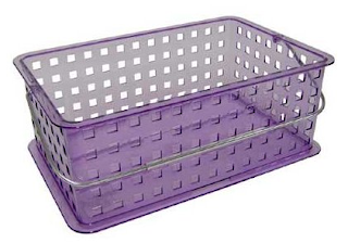 Zia medium sized plastic tote basket