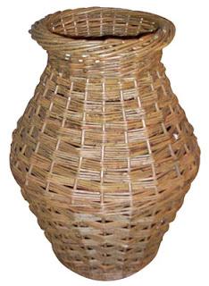 run shaped willow umbrella basket