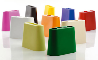 Italian umbrella stand, Roto-molded polythene, bright colors