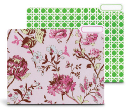 file folders in flower and other pattern