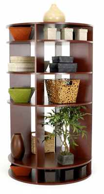 round display shelves