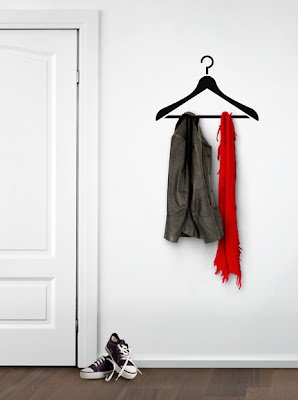 coat hanger wall sticker