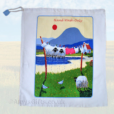hand wash laundry bag with sheep