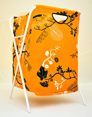 laundry bag with removable stand - becomes a hamper