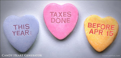candy hearts: This year: taxes done before Apr 15