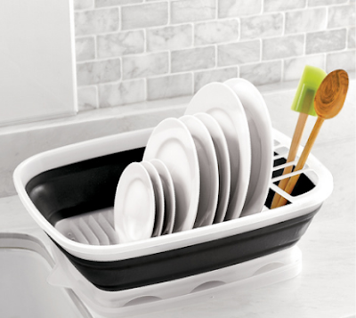 plastic collapsible dish rack