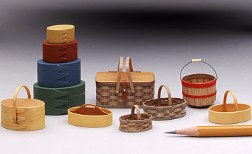 miniature dollhouse oval Shaker boxes