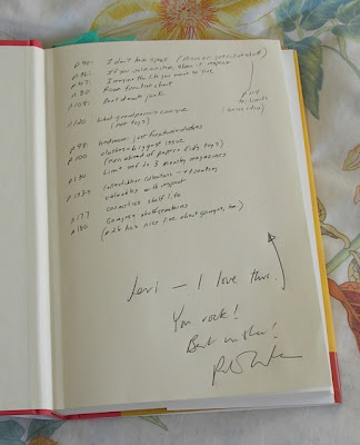 Peter Walsh's autograph in Jeri Dansky's copy of his book
