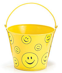 yellow happy face pail