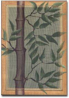 mesh earring holder with bamboo design