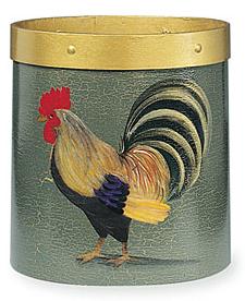 rooster wastebasket