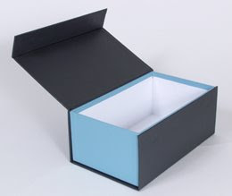 photo box, blue on one side