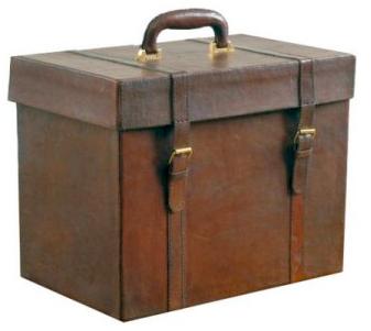 leather file box
