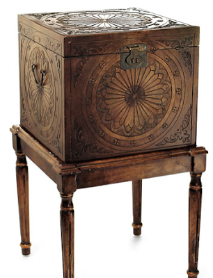 file box on stand