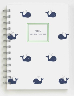 2009 planner with little whales on the cover