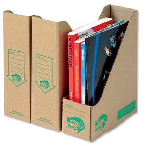 cardboard magazine files from recycled material