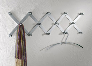 aluminum expandable coat rack