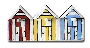 beach huts peg rack