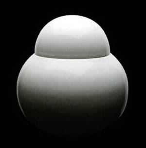 white porcelain canister