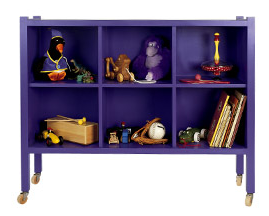 purple storage cubbies