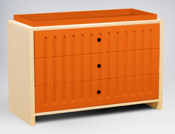 orange changer with drawers