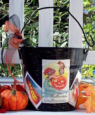Halloween themed pail