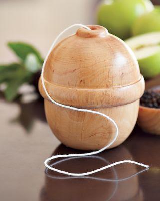 acorn-shaped twine holder