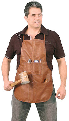 eight pocket leather work apron