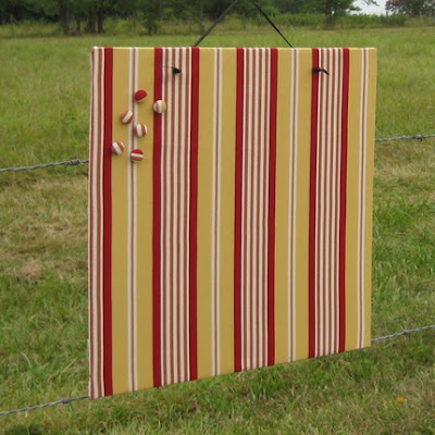 striped fabric magnet board