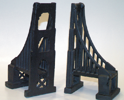 cast iron bridge bookends