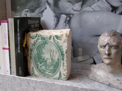 marble fragment bookend