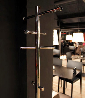 modern stainless steel coat stand