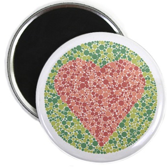colorblind heart magnet