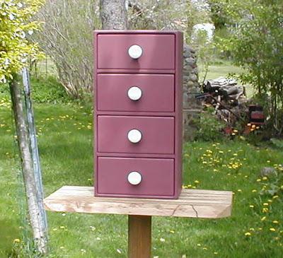4-drawer wooden recipe organizer