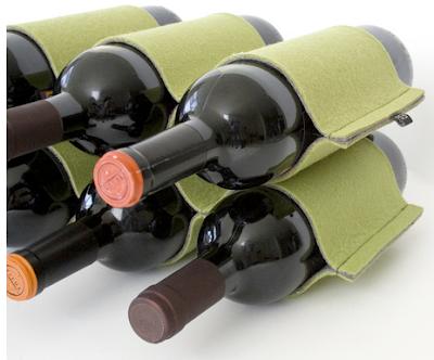 felt wine rack