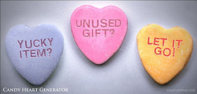 candy hearts: Yucky item? Unused gift? Let it go!