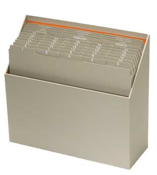 tickler file box